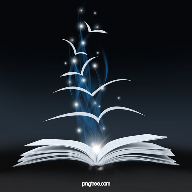 Books Magical Dark Sci Fi Background, Magic, Book, Deep