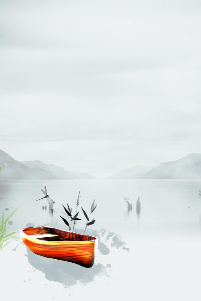 le paysage magnifique en noir et blanc simple chang image