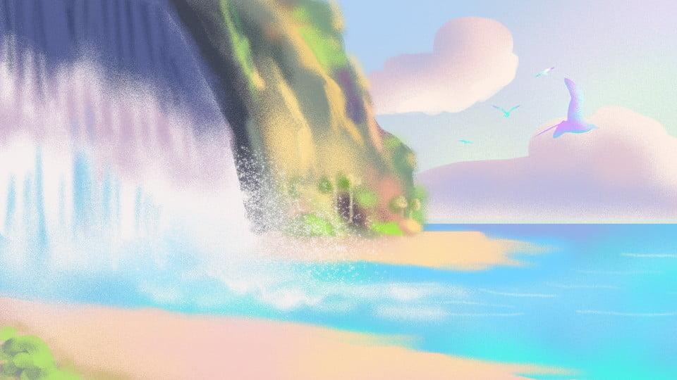 Waterfall Landscape Scenery Landscape Hd Background Image For