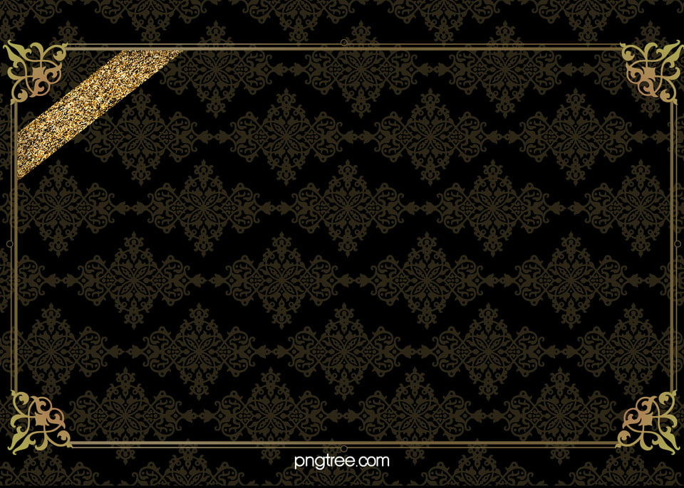 Vector Classical Shading Black Texture Gold Frame Background
