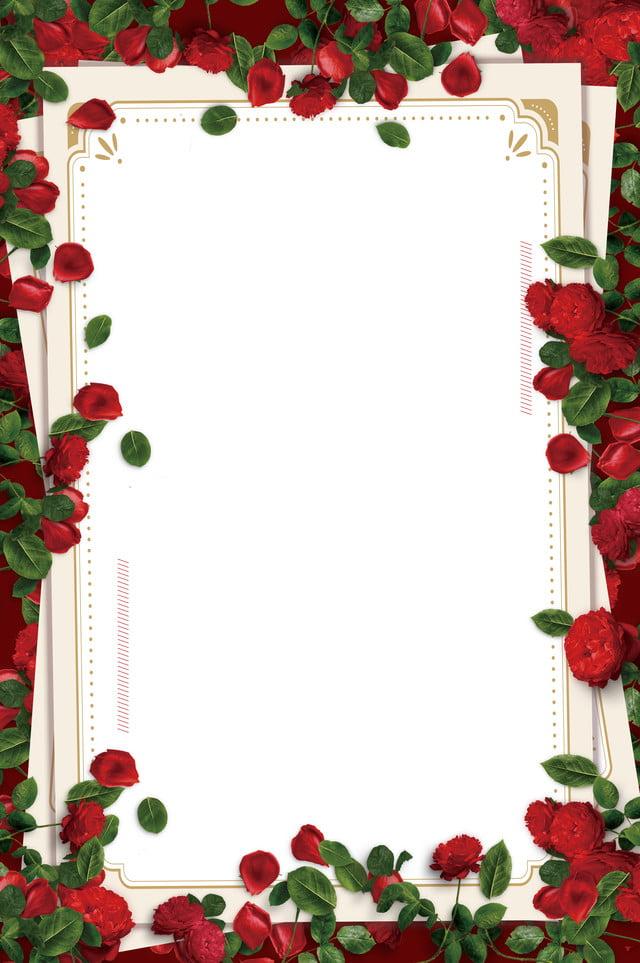 romantic roses wedding background border romantic rose