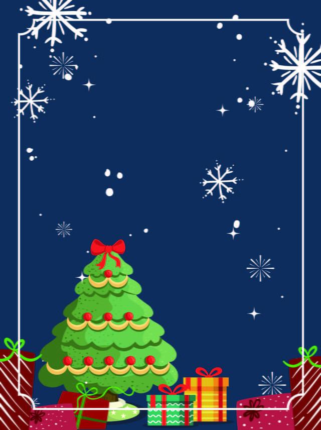 Christmas Tree Snowflake Background