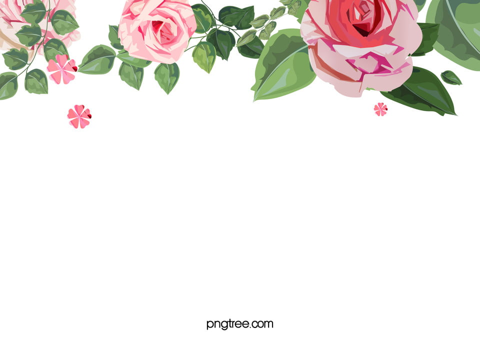 watercolor floral flower frame background simple watercolor