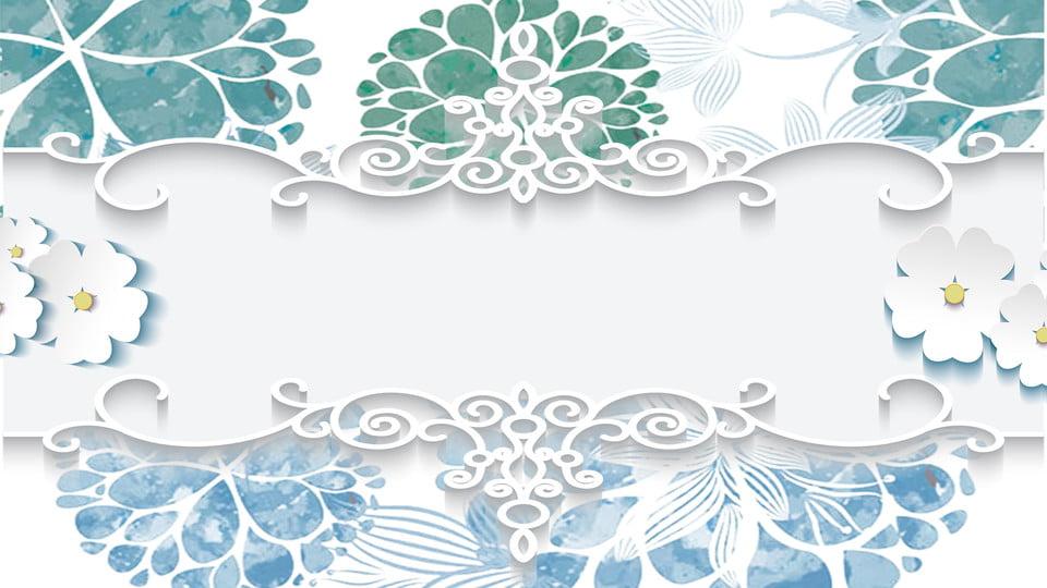 Blue Wedding Invitation Background: European Minimalist Wedding Invitation Background, Wedding