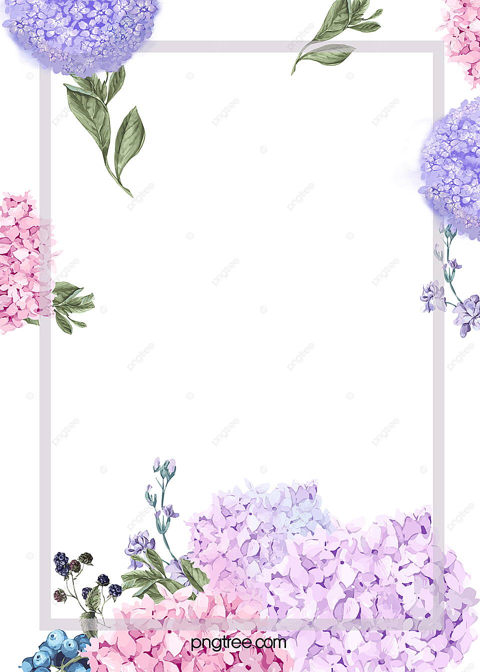 Elegant Watercolor Flowers Frame Background Elegant Watercolor