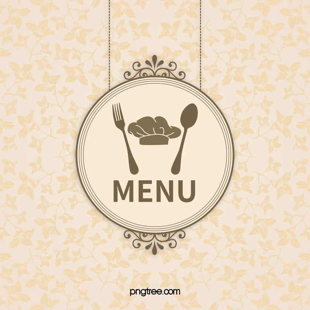 Elegant Chef Logo: The Elegant Restaurant Menu Pattern Vector Diagram, Rose