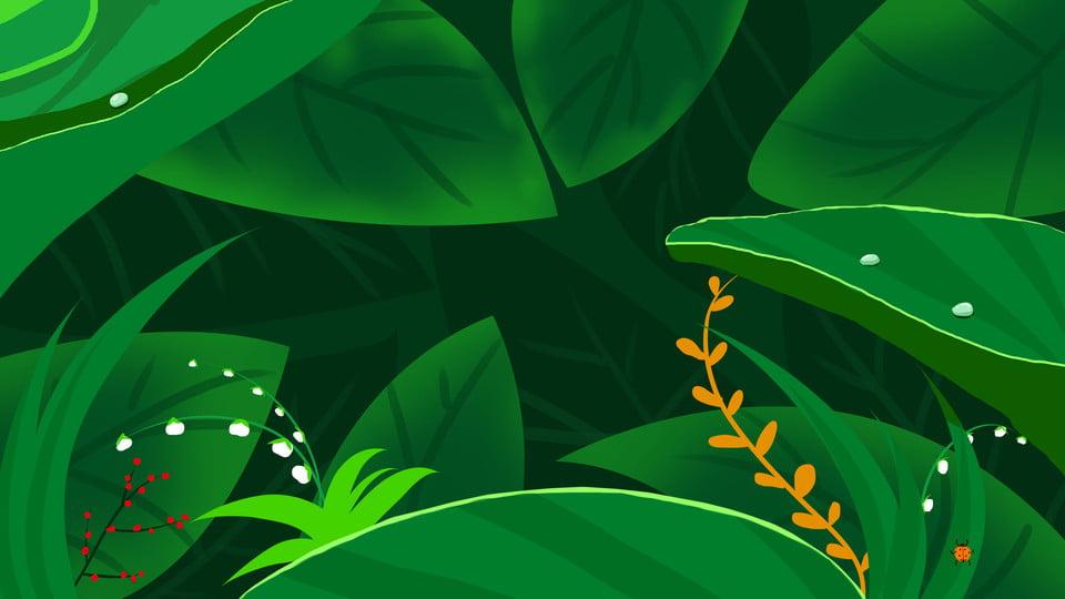 Le Gocce D Acqua Sullo Sfondo Verde Foglia Verde Le Foglie Le Gocce