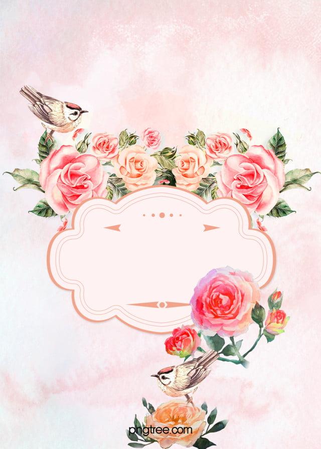 Fantasy Muster Blumen, Blumen, Hochzeits Einladung