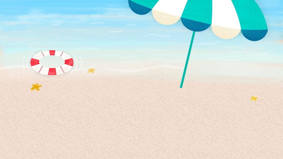 White Sandy Beach Seaside Background Image