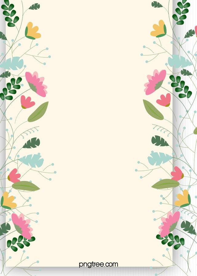 無料ダウンロードのための花の背景のテンプレートの大全 簡約 文芸 便箋