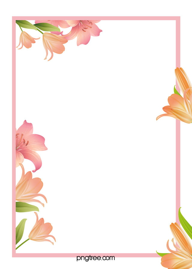 flowers border background h5 fresh flowers frame
