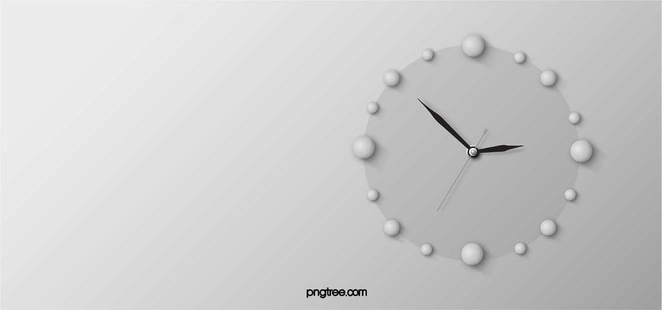 Simple Clock Background, Clock, Time, Education Background