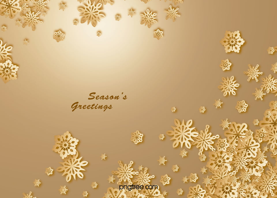 Christmas Card Background.Golden Christmas Greeting Card Snowflakes Vector Background