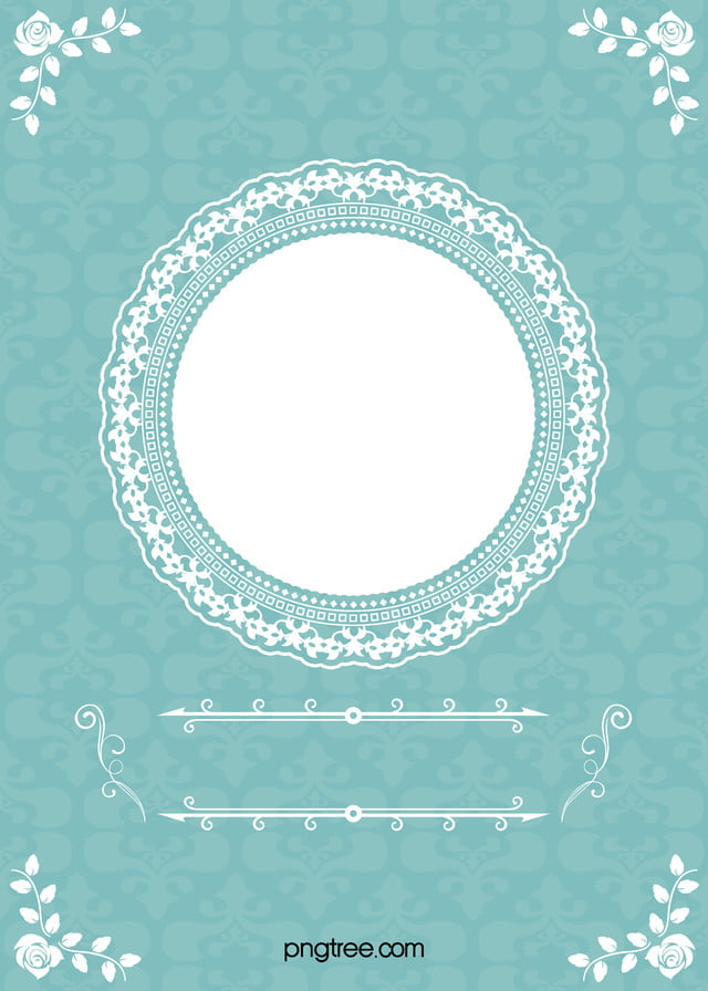 Wedding Frame Fl Blue Background Tiffany Image