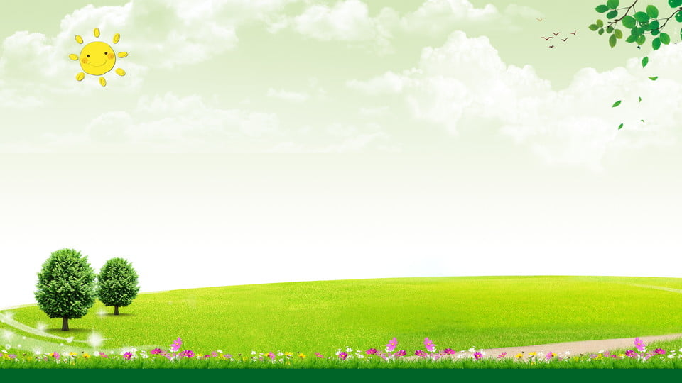 Sunset Beautiful Scenery H5 Background Romantic Green Simple Background Image For Free Download