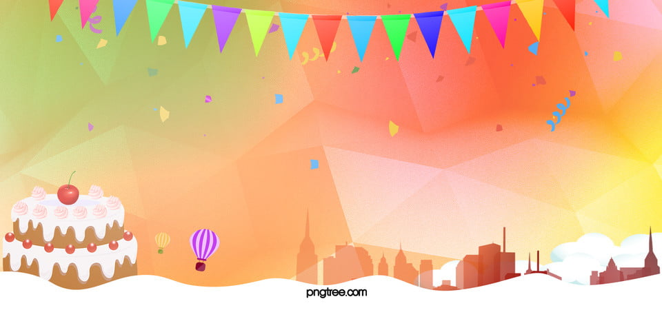 party geometric yellow banner background party get together