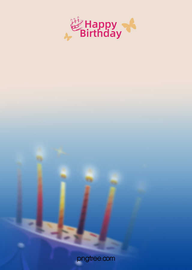 small fresh blue background happy birthday background