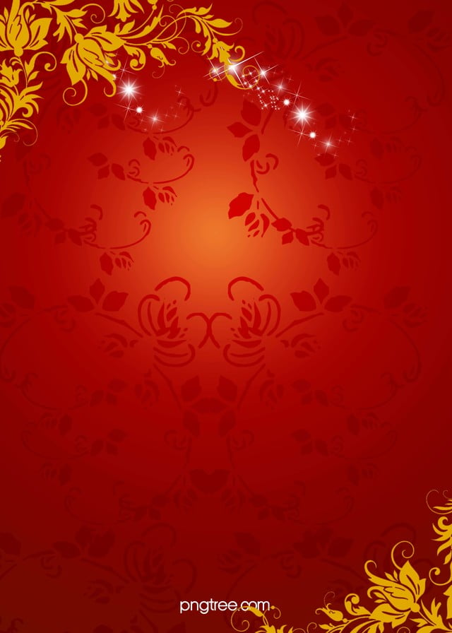 red floral pattern background floral wedding frame