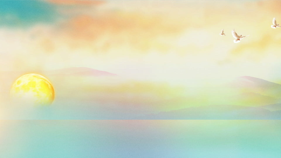 Contrasting Color Photography Beach Sunrise Background H5