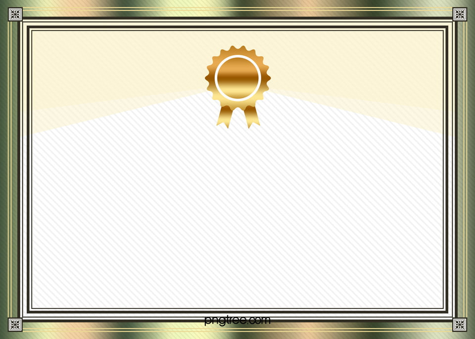 metal frame vector certificate background medals certificate templates background image