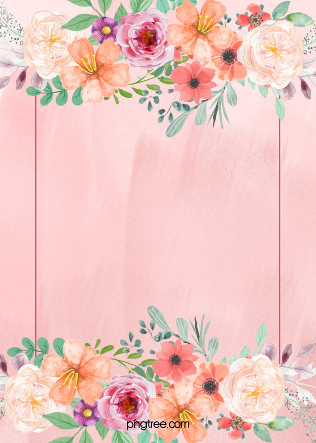 pink floral wedding poster background material pink flowers plant