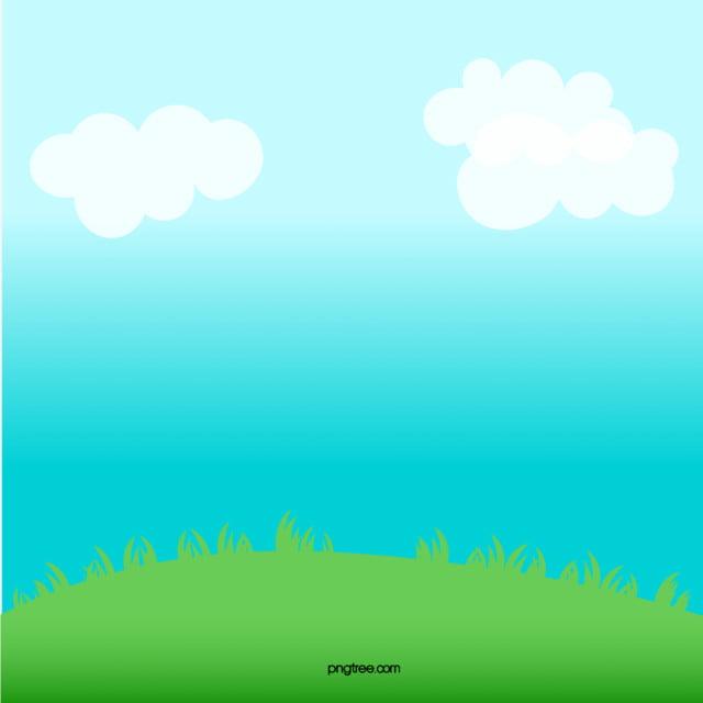 Dipinta A Mano Le Nuvole Del Cielo Sullo Sfondo Di Prato Dipinta A