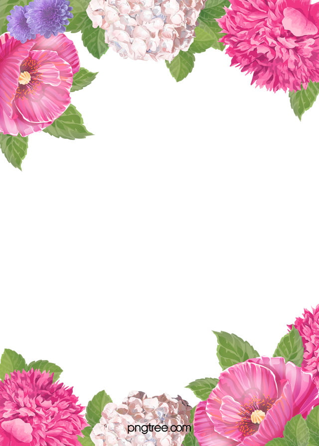 Mo Flowers Flowers Decorative Borders H5 Background Free Download ...