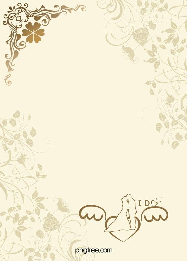 Continental Einfach Karten Hochzeit Hintergrund Material Welcome
