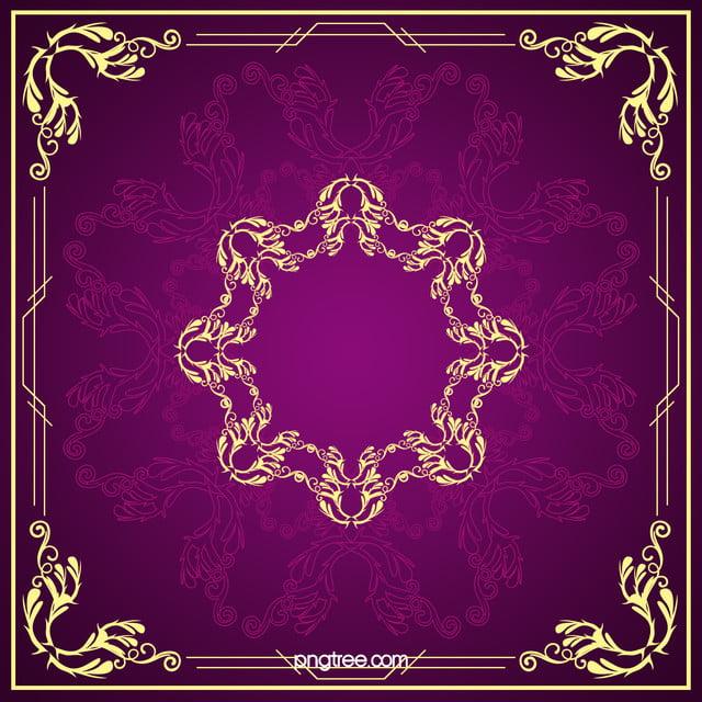 continental gold elegant pattern purple background