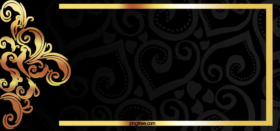 Vector Gold Frame On Black Background Material Pattern Golden