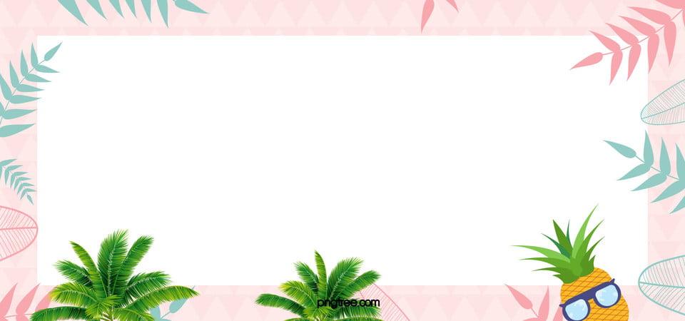 Cute Pineapple Art Geometric White Background