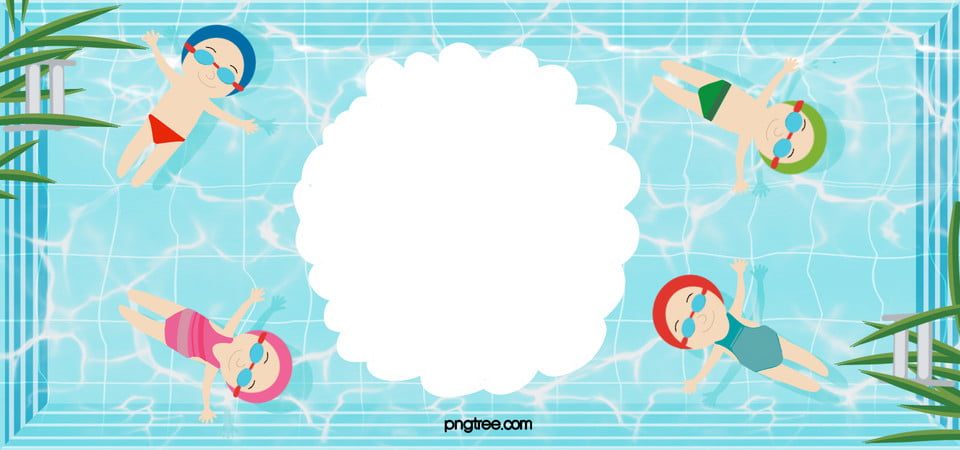 Swimming Pool Promotional Poster Background Infant