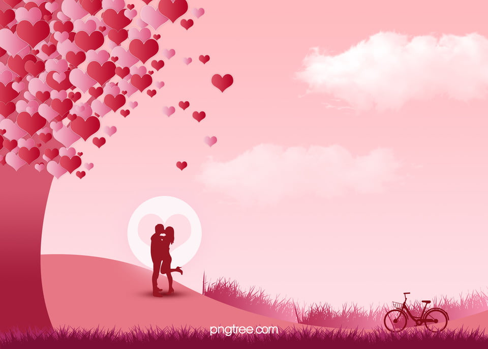 Romantic Red Love Tree Under The Couple Tanabata Tanabata Poster Background Psd Romantic Gules Love Background Image For Free Download