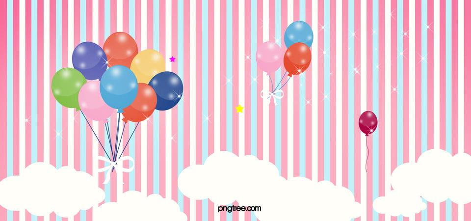 Cartoon Stripe Childrens Clothing Season Promotional Poster Background Psd