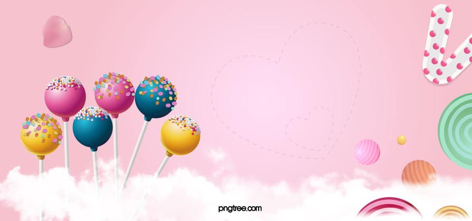 candy cartoon pink banner candy lollipop petal
