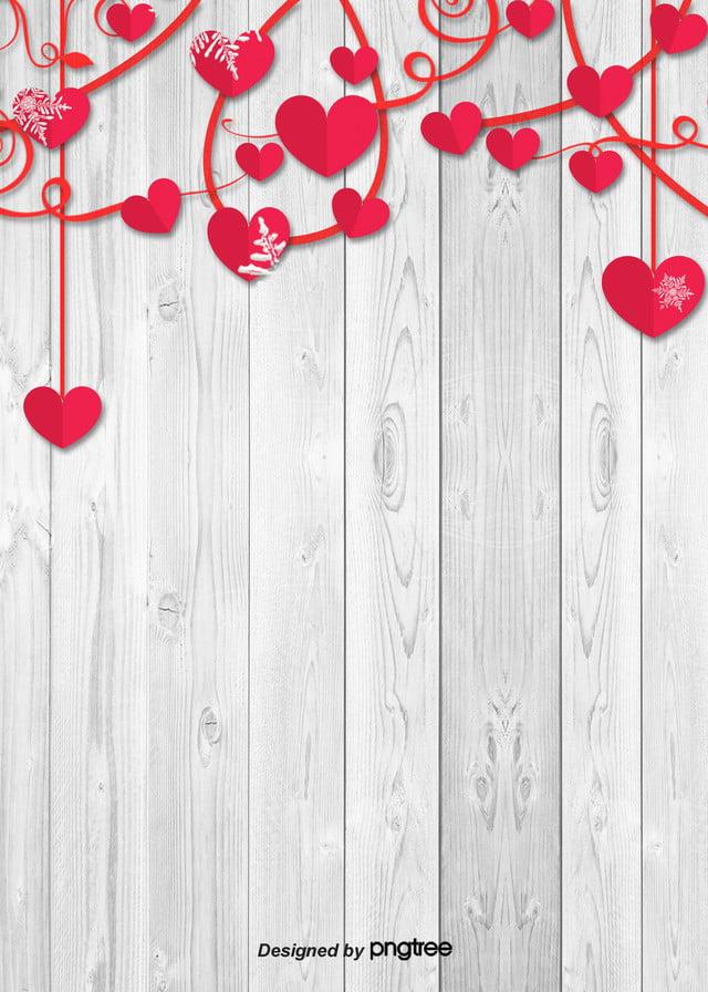 Lamore Di Legno Semplice Sfondo Bianco Il Giorno Di San Valentino Il