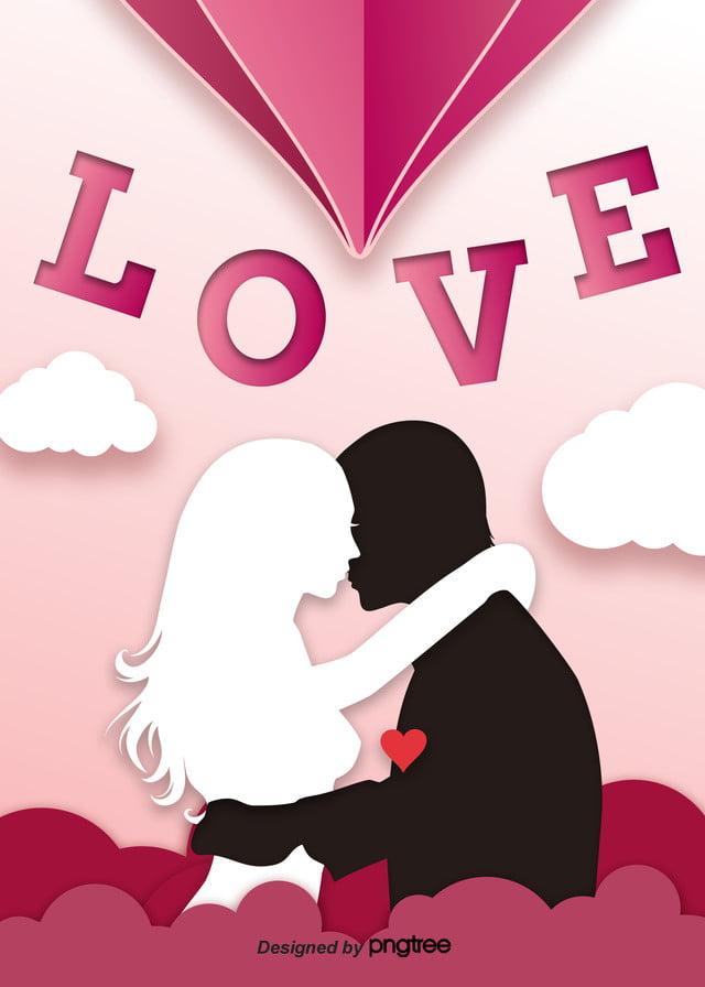 Il Giorno Di San Valentino Del Mare Piatto Semplice Sfondo Rosa