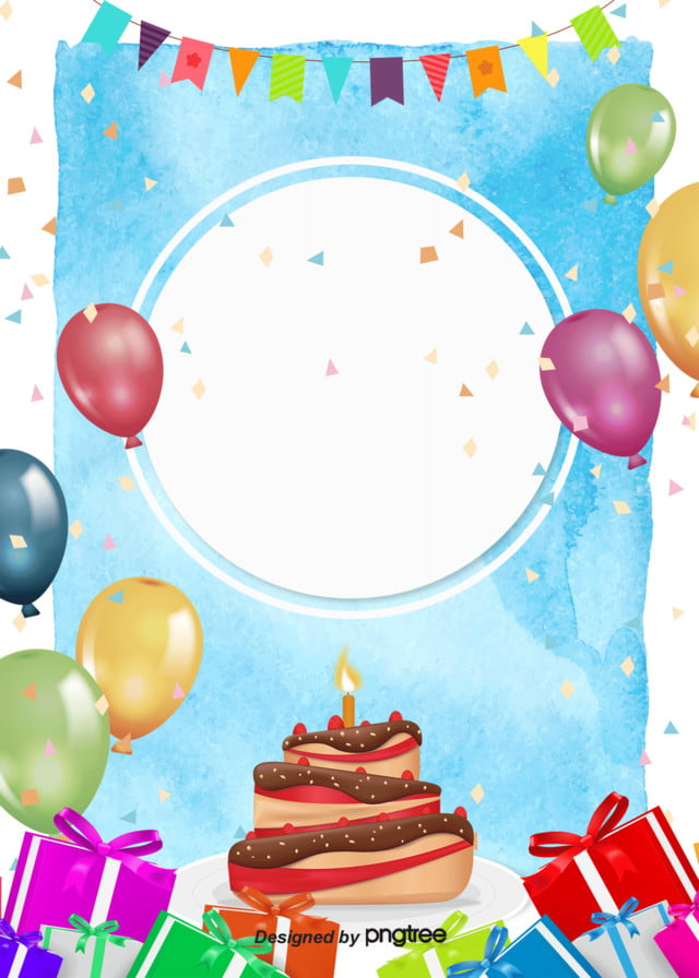 Color Cartoon Hand Painted Birthday Party Poster Background Cartoon Lovely Coloured Flag Background Image For Free Download
