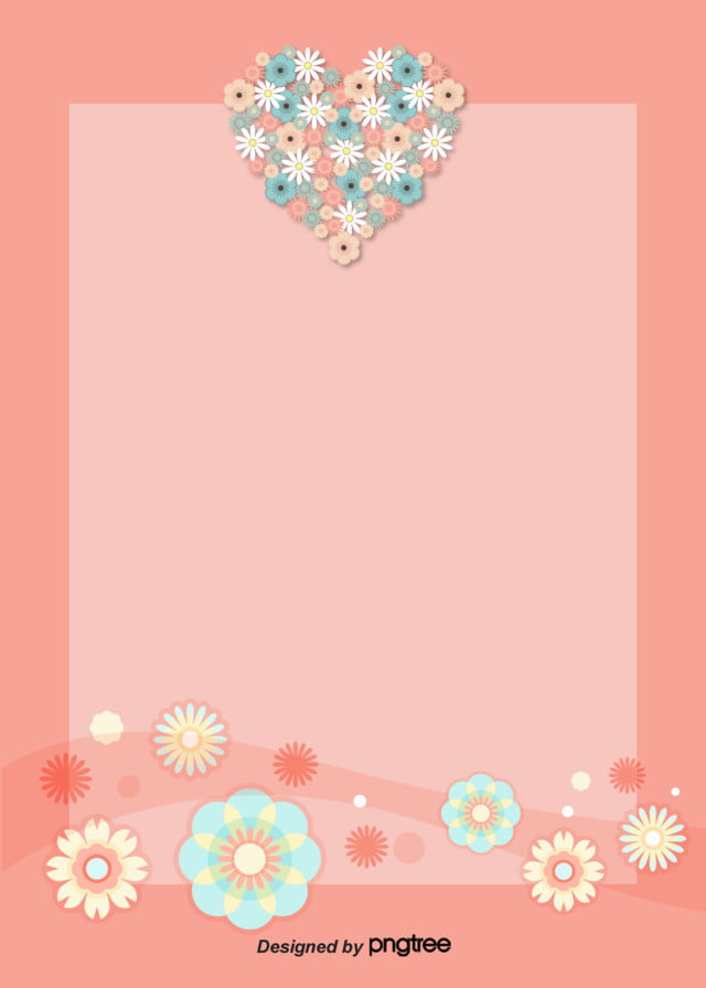 Valentines Day Caring Origami Flowers With Light Pink