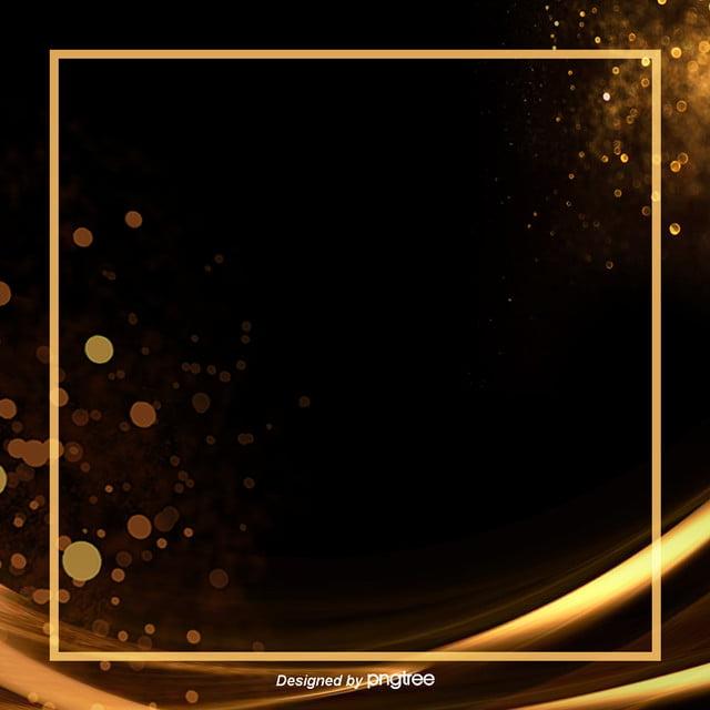 Background Design Of Black Luxury Gold Spot Border, Light