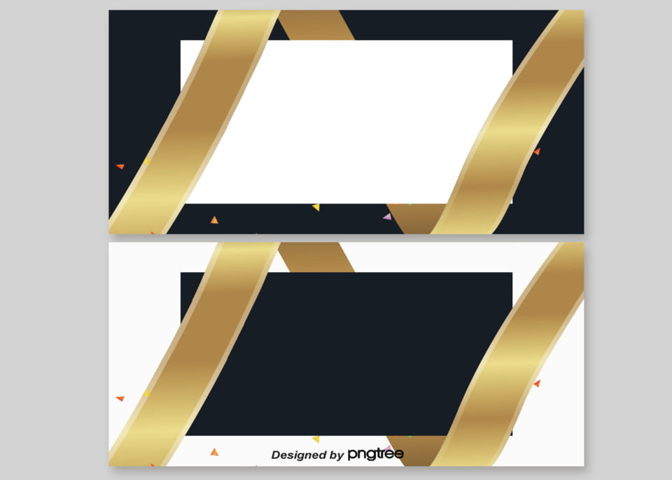 Background Of Atmospheric Black And Gold Business Card