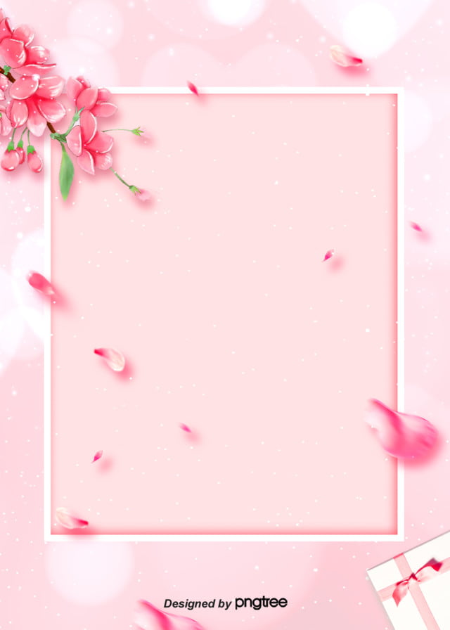 pink flower petal border background wedding celebration soft pale valentines day background image for free download https pngtree com freebackground pink flower petal border background 906510 html