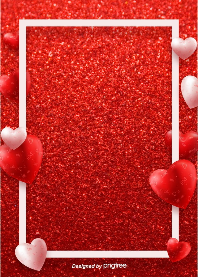 Red Simple Valentines Day Love Romantic Background