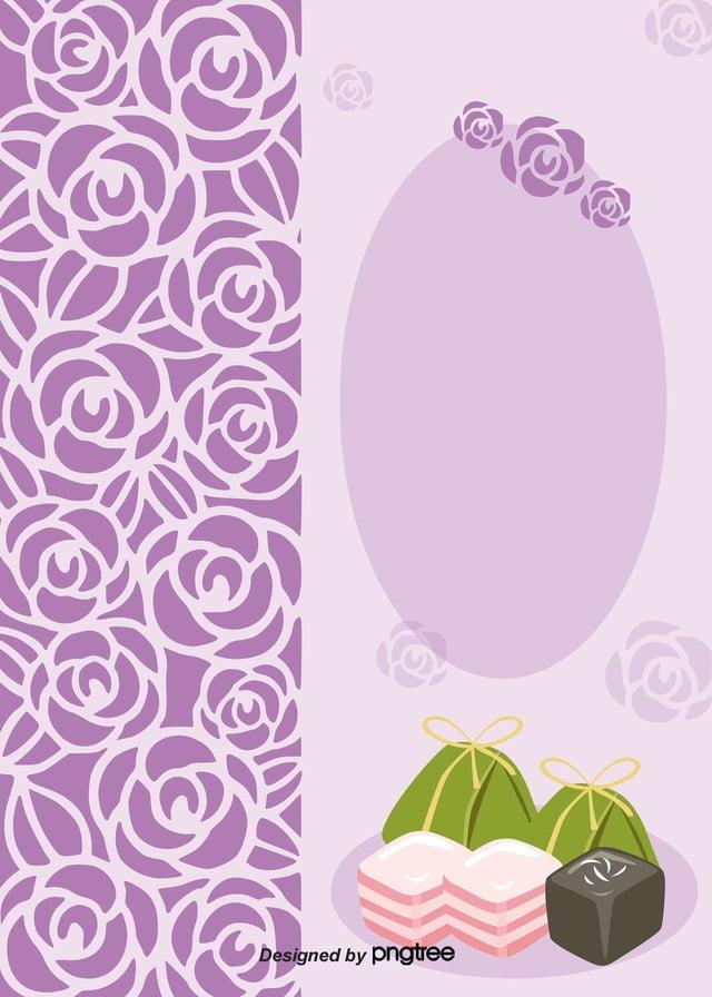 Simple Food Menu With Purple Roses, Rose, Simple