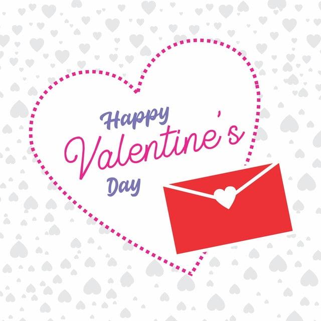 February Couple Wallpaper Holidays Heart Love Pink Vector Art