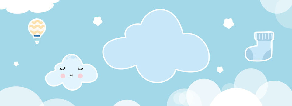 Mother And Baby Background Smiley Face Cloud Cartoon Lovely Wind