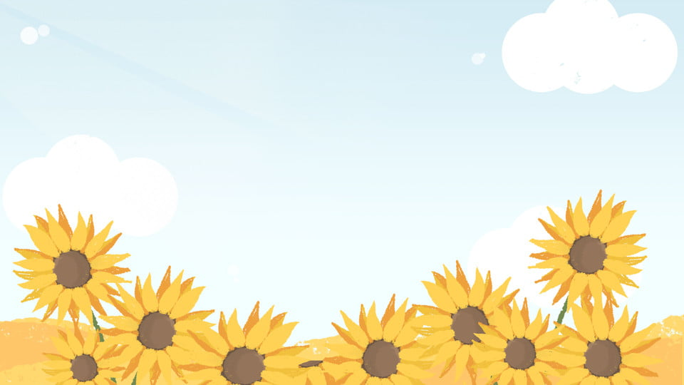 sunflower flower background yellow flower cartoon background cartoon flower sea warm flowers sun flower background image for free download https pngtree com freebackground sunflower flower background yellow flower cartoon background 912327 html