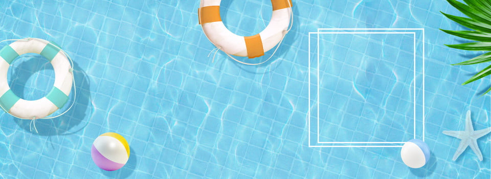 Swimming Pool Summer Summer Full Screen Poster Background
