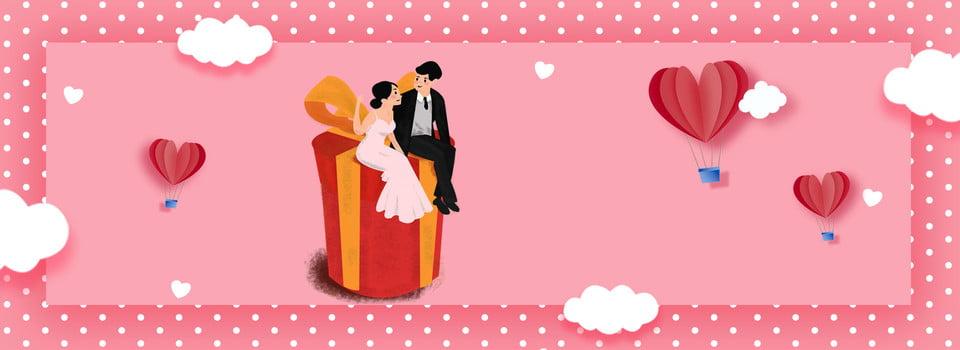 Romantische Antragshochzeits Valentinsgrußfahne Der Rosa