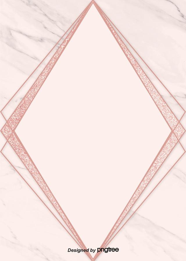 Semplice Geometria Sfondo Rosa Il Marmo Rose Doro Semplice Immagine